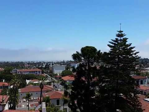 View of Santa Barbara CA from Courthouse  View Tower