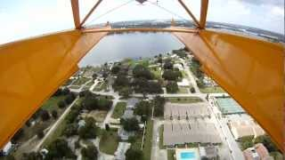 A Piper J-3 Cub on floats at Lake Jessie, Winter Haven, Florida
