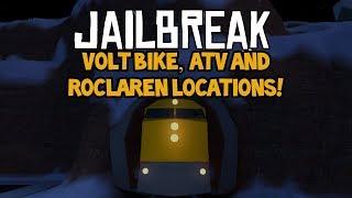 🚔 VOLT BIKE, ATV AND ROCLAREN LOCATIONS ON JAILBREAK!! 🚔 (roblox)