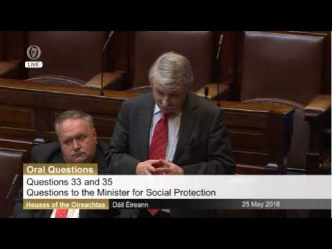 Brid Smith questioning the Minister for Social Protection