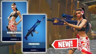 NOUVEAU DOUBLECROSS Skin et FIREWORKS Wrap Gameplay à Fortnite!