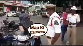 Ladki Ne Ki Police Officer Ke Saat Gali Galoj Aur Badtameezi | Vehicle Checking At Abids |