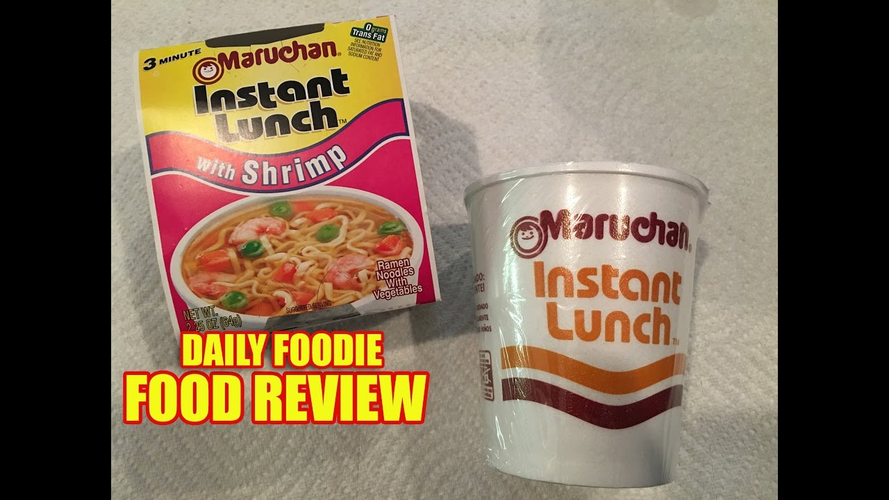 Maruchan Instant Lunch With Shrimp Review Youtube