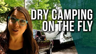 Dispersed RV (Dry) Camping on the fly // AZ to NC without RV Parks