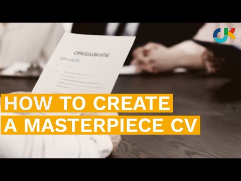 How To Create a Masterpiece CV