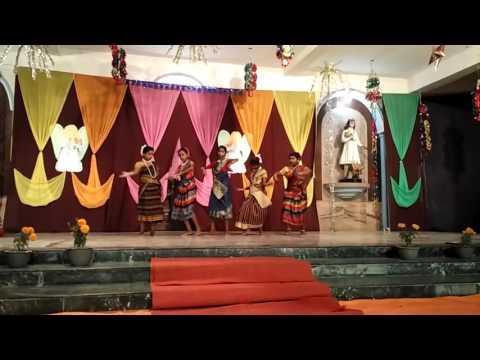 Azimganj  girls santali Dance video  on Christmas 📹2015📶💒🏰⛪