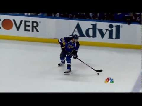 Anze Kopitar SHG goal. LA Kings vs St. Louis Blues game 2 4/30/12 NHL Hockey