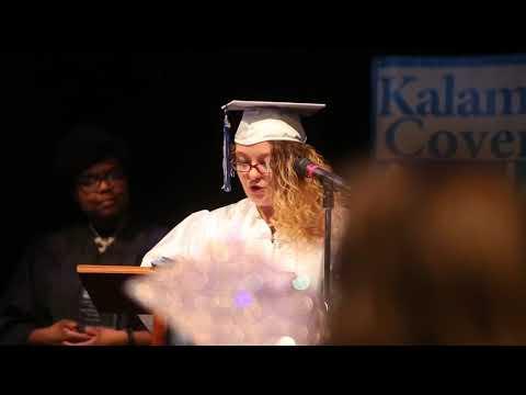 Tina Morgan Caritas Award acceptance speech at Kalamazoo Covenant Academy Graduation
