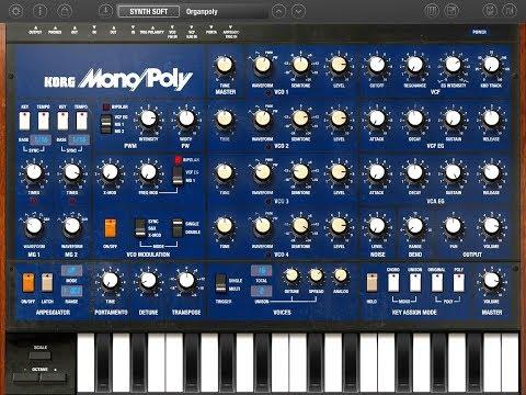 KORG iMono/Poly FACTORY BANK B The BIG Soundtest for the iPad