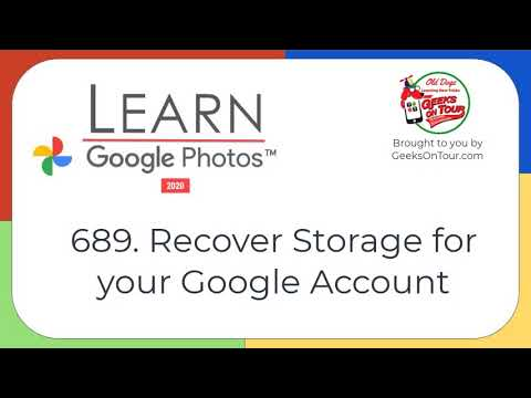 Recover Storage for your Google Account Tutorial Video 689