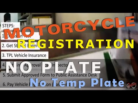 LTO Motorcycle Registration (Without a Temporary Plate)
