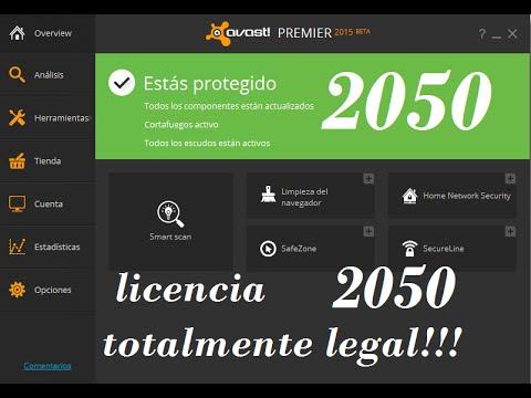 Avast Premier Antivirus 2015 Con Licencia Hasta El 2050 Bien