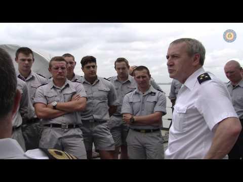 Admiraal Hofman bezoekt de Godetia