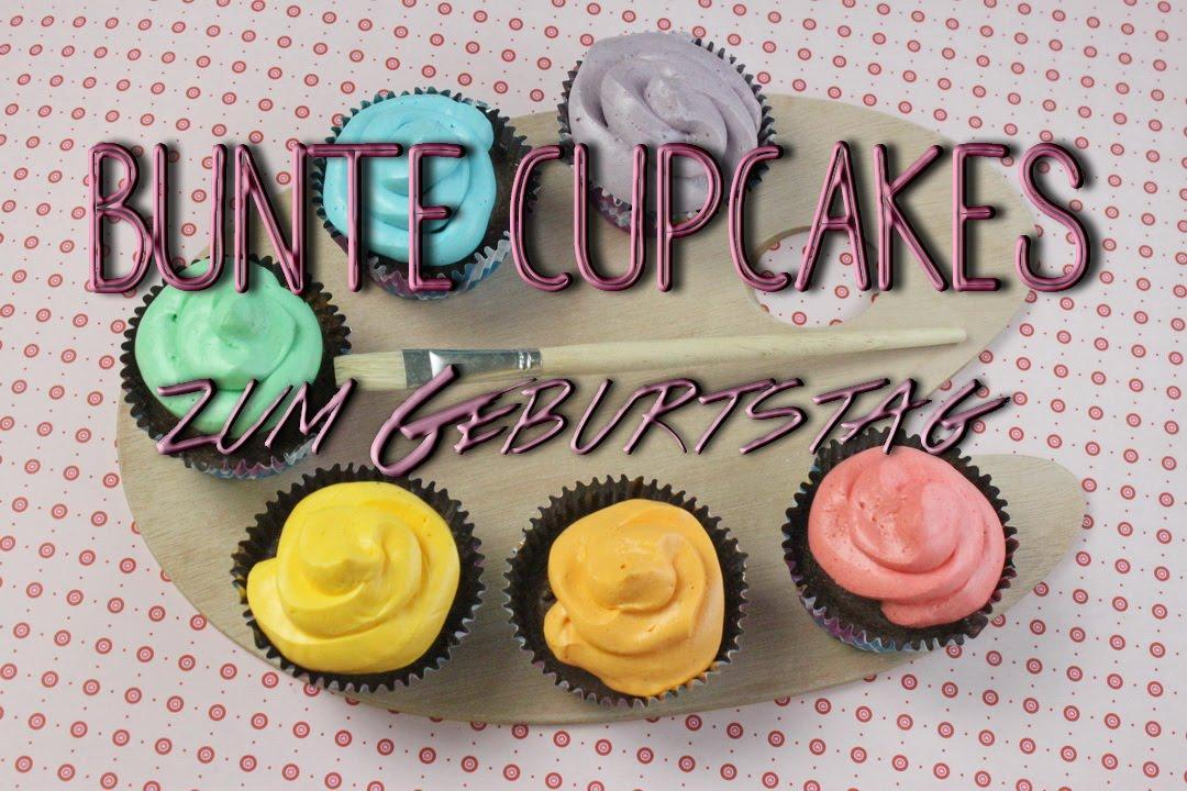 bunte rainbow cupcakes zum geburtstag schoko cupcakes backen do it yourself geschenke youtube. Black Bedroom Furniture Sets. Home Design Ideas