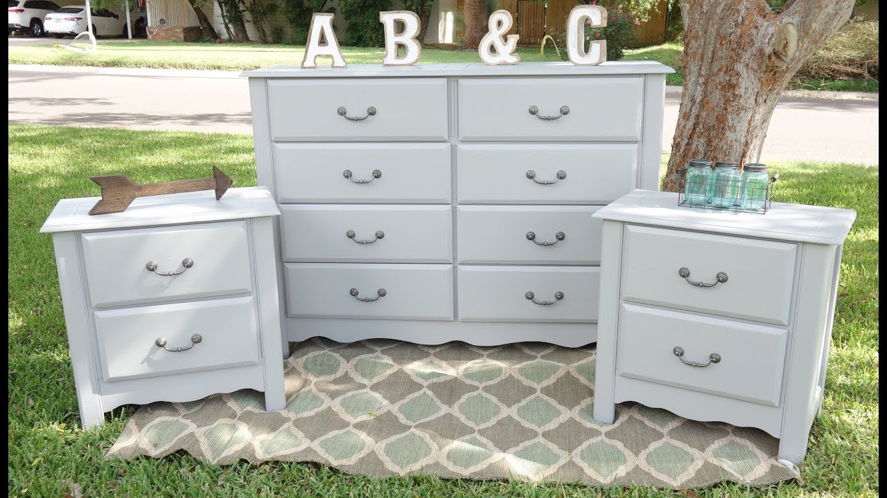 painting a bedroom set grey how to furniture makeover