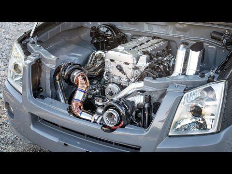 55 PSI of Boost! Twin Turbo Diesel Rollin' Coal in Bangkok