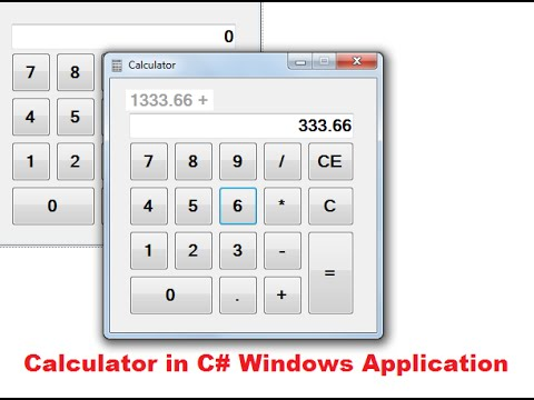 How To Make A Calculator In C# Windows Form Application Part-1