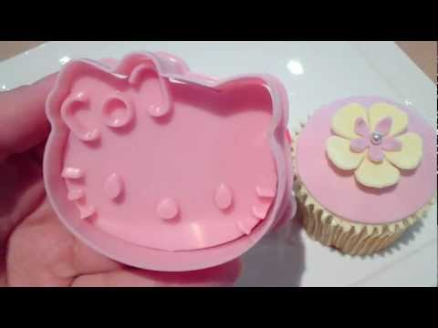 Hello Kitty Cupcake Topper Cutter Set How To On My Channel Youtube