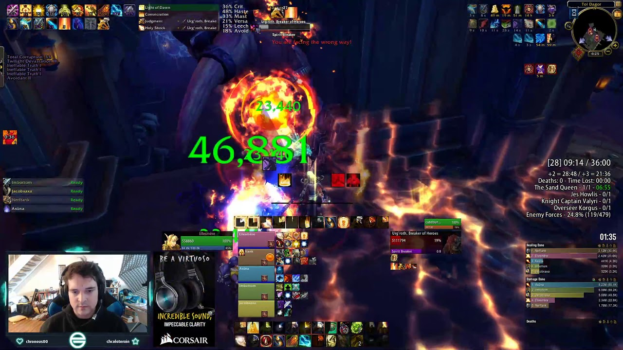 +28 Tol Dagor - World First, Tank Solos Last Boss