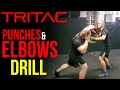 Self-Defense Punches & Elbows Mitt Drill: TRITAC-Unarmed