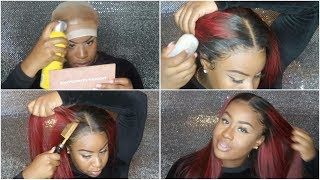 WATCH ME SLAY & INSTALL THIS WIG: MELT DOWN , WHAT LACE GLUE I USE?, ETC. | FT. RECOOL HAIR