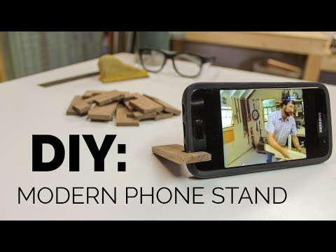 Modern Cell Phone Stand - DIY Easy Beginner Woodworking
