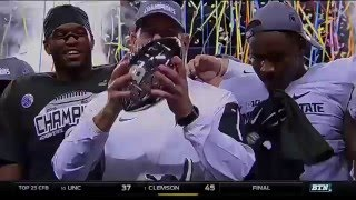 Iowa vs Michigan State - 2015 Big Ten Football Championship Highlights