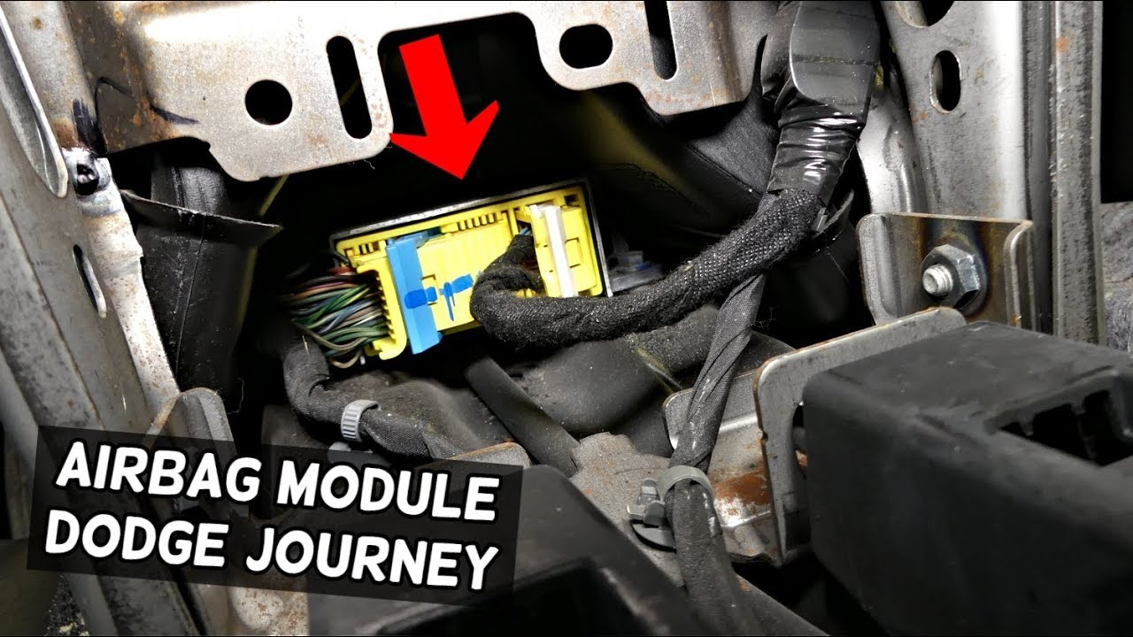 dodge journey airbag module location replacement  fiat freemont