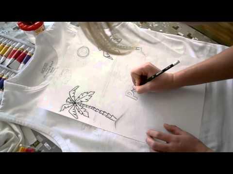 Нарисовать рисунок на футболке своими руками