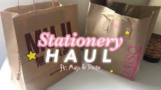 stationery haul || ft. muji & daiso ��💕