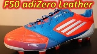 Adidas F50 adizero miCoach Leather Infrared/Bright Blue/Running White (Euro 2012) - UNBOXING