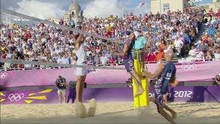 Men's Beach Volleyball Round of 16 - ITA v USA | London 2012 Olympics