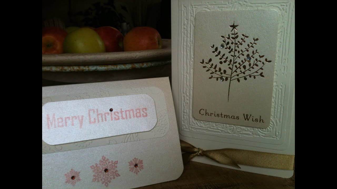 Recycling Greeting Cards - Christmas Card # 1 - YouTube