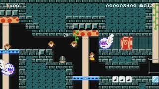 ♥デイジーとオバケ屋敷♪止まると即アウト!SpeedRun!♥ by ゆきぃ(ゆっきぃ♪) - Super Mario Maker - No Commentary
