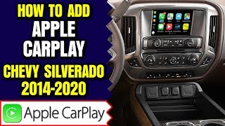 Chevy Silverado Apple CarPlay - How To Add Apple CarPlay Chevrolet Silverado 2014-2020 NavTool DVD
