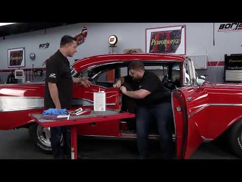 Left 1955-1957 Chevrolet Interior Vertical Windshield Molding Sedan