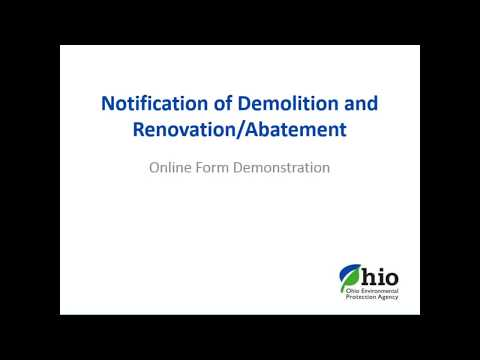 Morning Session - Asbestos Program Merger- Online Notification Form