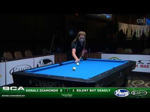 2017 BCAPL Nationals - Women's 9-Ball Gold Teams: Denali Diamonds vs Silent But Deadly