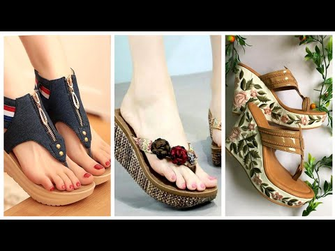 Gorgeous Collection Of Women Summer Wedge Heels Flip Flop And Sandals Designs