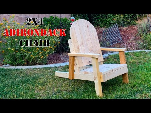 Project - Build an Adirondack chair out of 8 - 2x4's