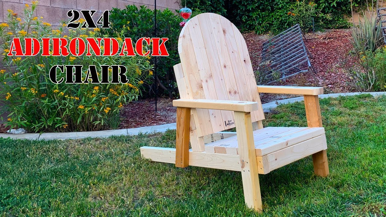 Project Build An Adirondack Chair Out Of 8 2x4 S