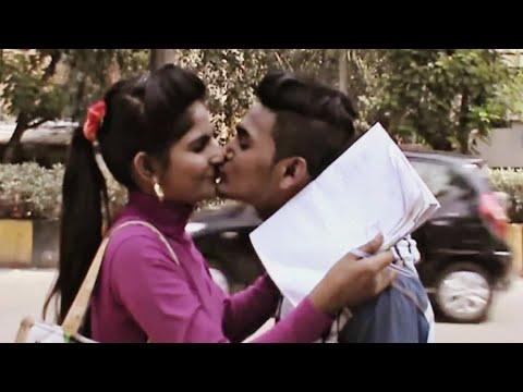 Kiss Prank in  New Delhi 2018