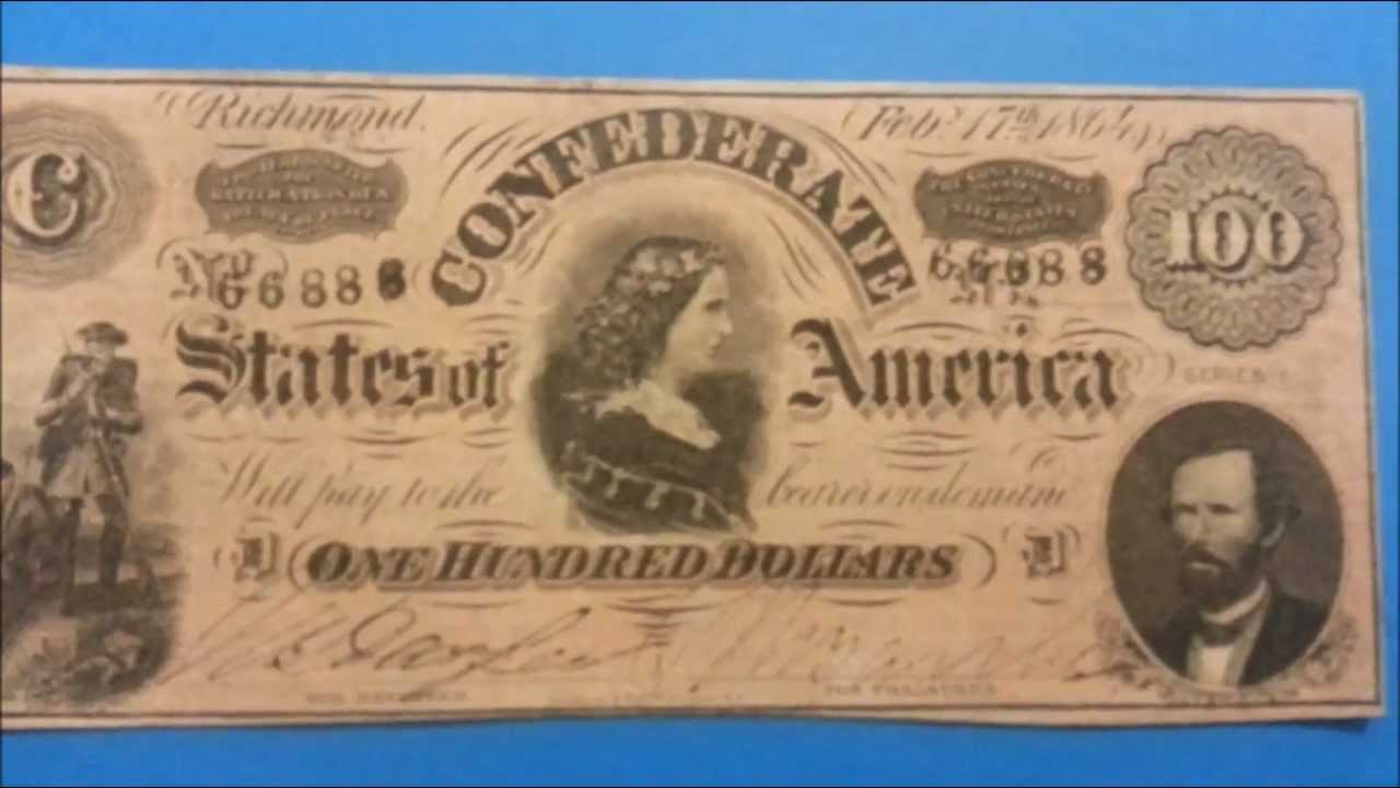 $100 1864 Confederate States Note - Richmond