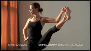 Repeat youtube video Ashtanga Yoga Primary Series with Maria Villella: Utthita Hasta Padangusthasana