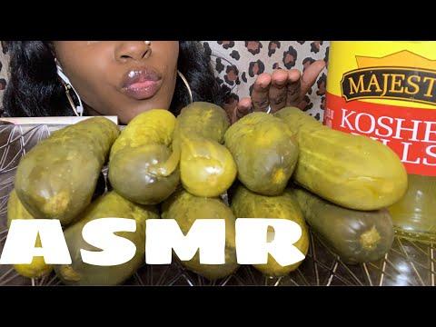 Asmr Pickle Challenge(ASMRPhan)Eating Sounds Big Crunch INTENSE