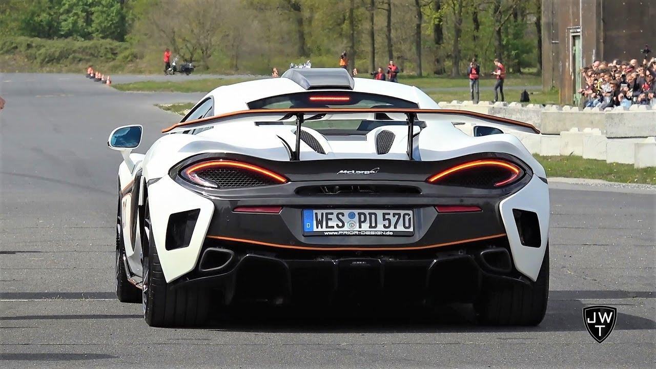 2017 McLaren 570S PRIOR DESIGN PD1 & 570S Coupe! REVS & Drag Race SOUNDS!