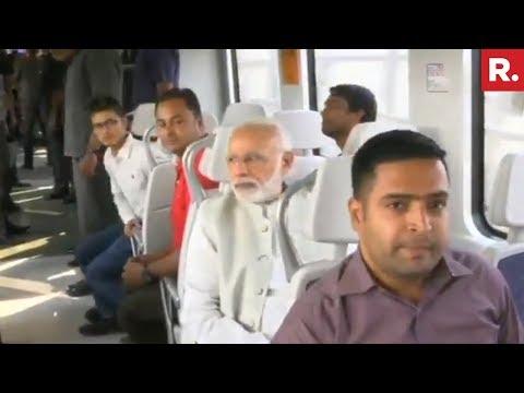 PM Narendra Modi Takes Metro Ride With Public In New Delhi