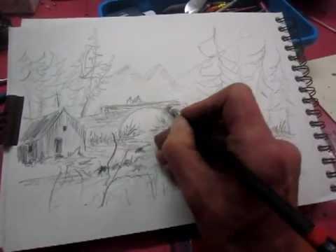 Le Dessin Au Crayon A Papier Youtube