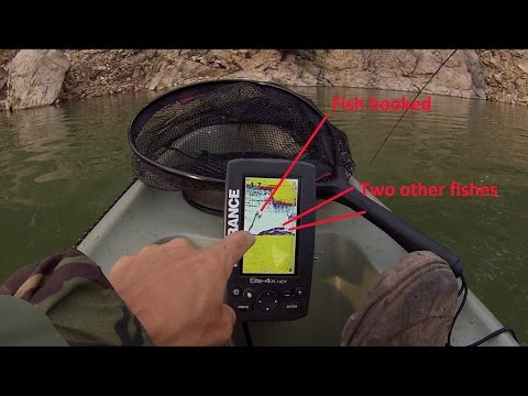 Fish finder Lowrance Elite 4x hdi explanation in water