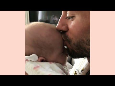 Enrique Iglesias Kissing His Baby | So Adorable